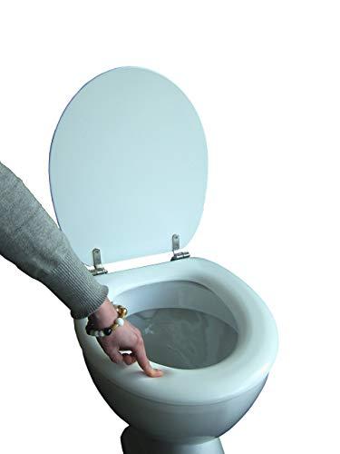 Polsi Soft WC Sitz gepolstert Farbe weiss mit Edelstahlscharnieren