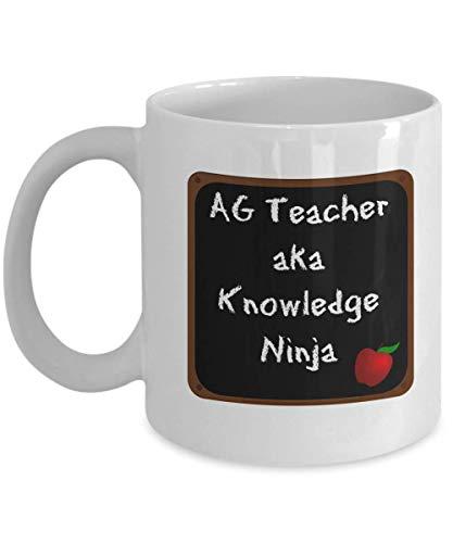 N\A Tazas de Dos Hermanas, Regalos de Regreso a la Escuela, Taza de té de café de Pizarra para Maestros, cerámica Blanca (AG Teacher)