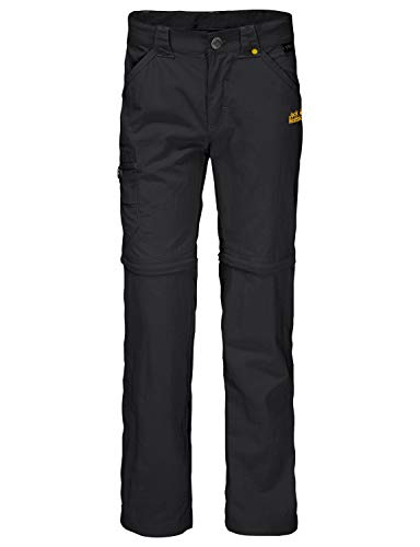 Jack Wolfskin Kinder SAFARI ZIP OFF PANTS K Hose, Black, 140