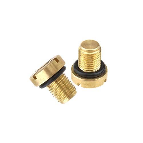 D2D 17111712788 - Tornillo de purga para tanque de refrigerante y junta tórica de goma de repuesto para piezas de coche, 1711712788