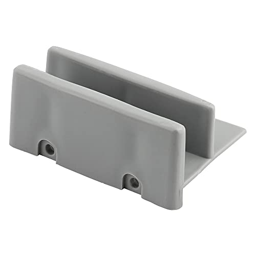 Prime-Line Products M 6192 Shower Door Bottom Guide Assembly,(Pack of 2) , Gray