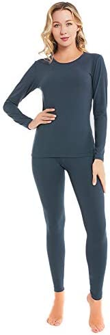 qingduomao Thermal Underwear for Women Ultra Soft Long Johns Set Cotton Base Layer Winter Ski product image