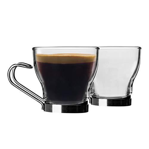 Bormioli Rocco Juego de 12 tazas de café de cristal Oslo –...