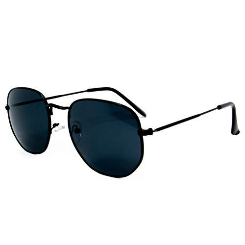 Óculos de sol Hexagonal Clássico Proteção UV400 Unissex Vazcon