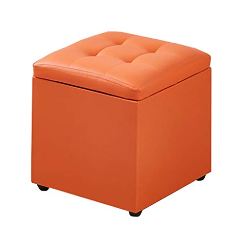 Gewatteerde voetenbankje, gevoerde voetenbankje, sofa-schommel Osmanische stoel-schommelstoel multifunctionele ruimtebesparende kunst en afscheidend kleine koffietafelschuim lederen schede