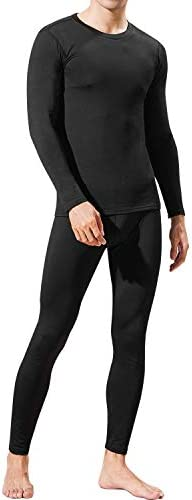 Mens Thermal Underwear Set Winter Warm Base Layers Tight Long Johns Tops and Bottom Set with product image