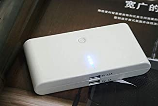 White Universal 20000mAh USB Output Power Bank External Battery Pack For HTC Samsung Nokia Iphone