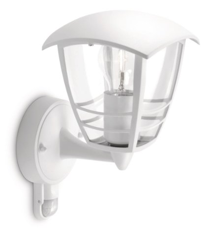 Philips 153883116 Creek Lanterne Murale Aluminium Blanc 1 x 60 W