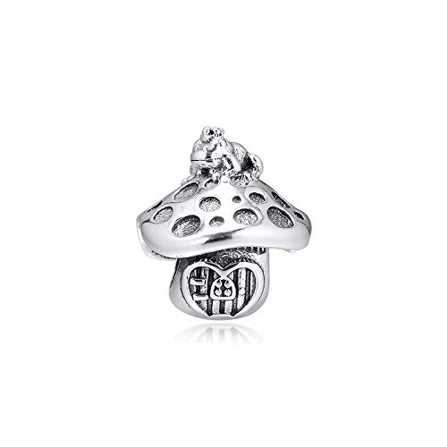 Fits Pandora Bracelet Mushroom & Frog Charm For Jewelry Making Charms Silver 925 Original Bead