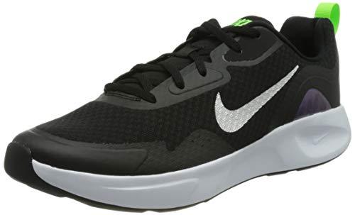 Nike WEARALLDAY, Scarpe da Corsa Uomo, Black/Mtlc Silver-Blackened Blue-Electric Green, 42.5 EU