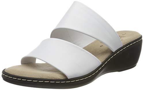 Jana 100% comfort Damen 8-8-27205-24 Pantoletten, Weiß (White 100), 36 EU