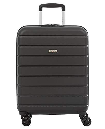 imome Top Maleta de Cabina Negro Cierre TSA 55x40x20/23 cm Expandible | Equipaje de Mano, Trolley de Viaje Ryanair, Easyjet | Maleta de Viaje Rígida 100% ABS Reforzado, Antiarañazos, Carga USB