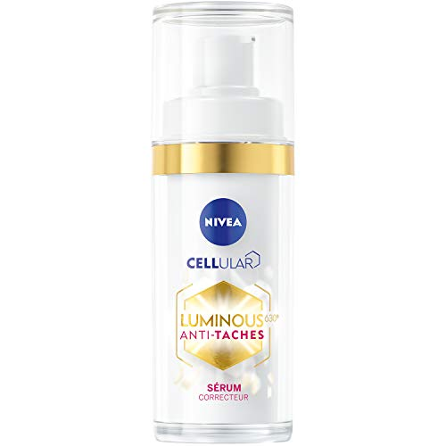 NIVEA Cellular Luminous 630® Sérum Correcteur (1 x 30 ml), soin visage réducteur de taches pigmentaires, soin femme pour tous types de peaux, même sensibles