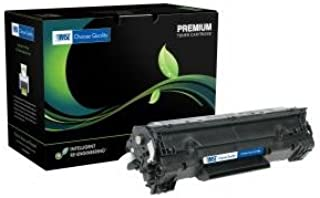 Inksters Remanufactured Toner Cartridge Replacement for HP 35A / Canon 712 Toner CB435A (HP 35A)/ 1870B002AA (Black)