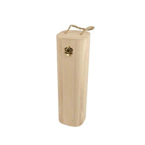 Creativ 57508 Weinflaschenkiste aus Holz mit Schnur, beige, 1 Stück