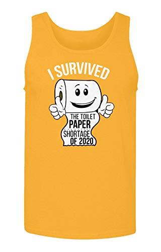 Sheki Apparel Coronavirus 2020 Toilet Paper Shortage Covid 19 Humor Men's Tank Top (Gold, XX-Large)