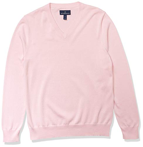Amazon Brand - Buttoned Down Men's 100% Supima Cotton V-Neck Sweater, Light Pink, XX-Large
