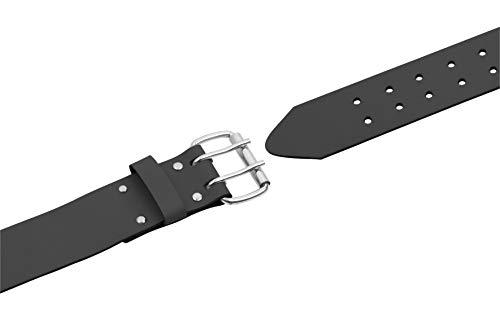 Connex riem 125 cm - verstelbaar in de lengte - met dubbele gesp - voor werkbroek & Blaumann - van leer - robuust & duurzaam/outdoorriem/heupriem met koepel / COX951030
