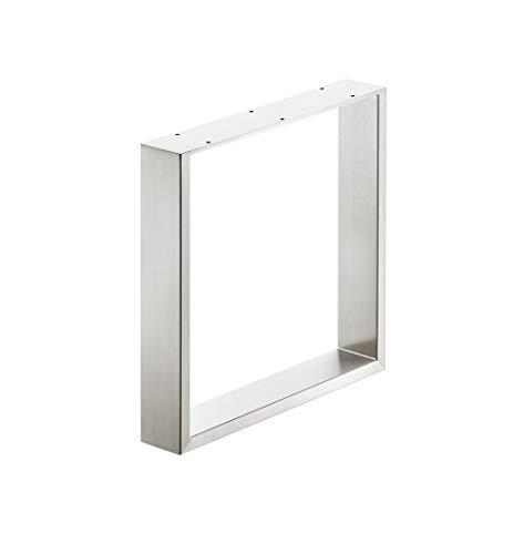 Gedotec Tischbein Bankkufe Sitzbank Tischfuß zum Anschrauben für Couchtische & Esstische | Tragkraft 200 kg | Höhe: 420 mm | Tischfuß Edelstahl matt gebürstet | 1 Stück