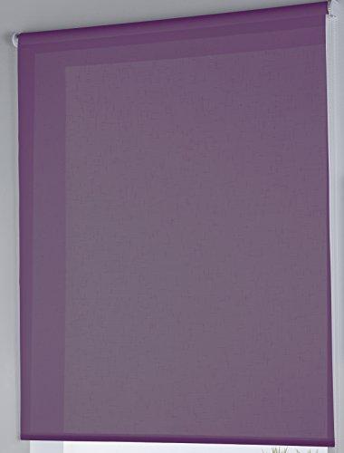 Rollertor Dresde - Estor Enrollable, Tela, Vino, 150 x 175 cm