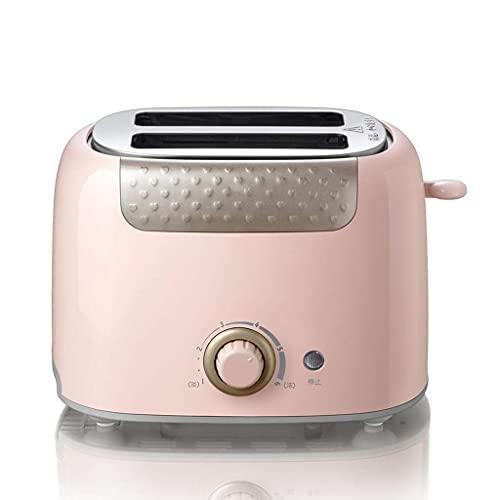 Toastie Maker Dos rebanadas con 6 ajustes de tostado y bandeja desmontable Variable Browning Control Función de alta elevación Función Helado Helado (Color: Rosa) (Color: Rosa) ZHNGHENG