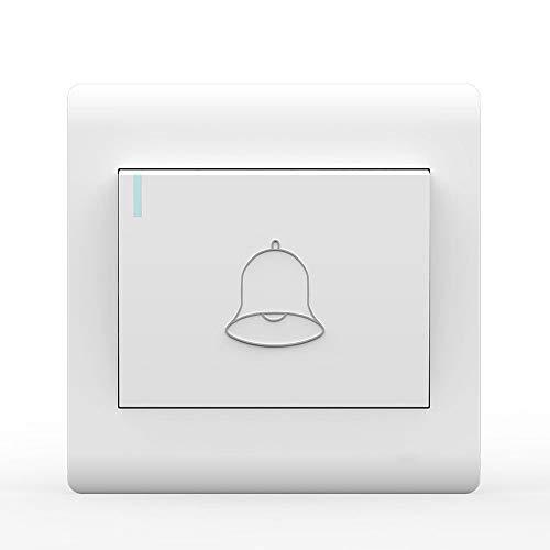 Ploutne Las Placas del Interruptor de Hogares Timbre de la Puerta Interruptor de botón Auto-Reset Interruptor basculante 86 encubierto Embedded Interruptor de Timbre con luz Fluorescente indicador