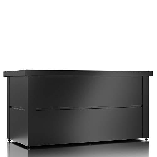 ILESTO Aufbewahrungsbox aus Stahl, Benni-Boy (401L): Auflagenbox wasserdicht L | Kissenbox für Ihren Garten 135x65x69cm | Stauraum für den Außenbereich | Anthrazit - 2