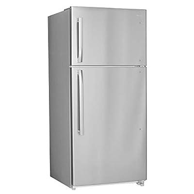 "Smad 30"" Top Mount Freezer Refrigerator 18 Cu.Ft 2 Door Apartment Size Refrigerator, Stainless Steel"