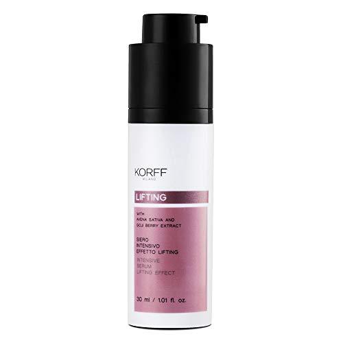 Korff Siero Lifting Siero Viso Texture Crema-Gel, Idratante con Acido Ialuronico e Bacche di Goji ad Effetto Lifting, 30 ml
