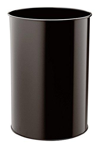 Durable 330301 - Cestino Cilindrico in Acciaio Verniciato 30, Capacità 30 Litri, 450 x 315 mm, Nero