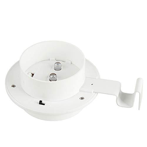 CHAN Heißer Wasserdichten Outdoor-Solar-Wand-Lampe 3 LED Weiß/Warmes Weißes Licht Zaun Gutter Garten-Yard-Dach,B1