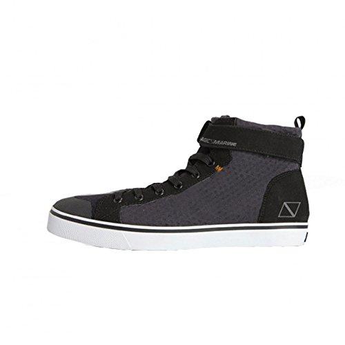 Magic Marine Damen Herren NeoprenschuheDeckies High Tops Sneaker Bootsschuhe knöchelhoch, Größe:44.5 EU, Farbe:schwarz/grau
