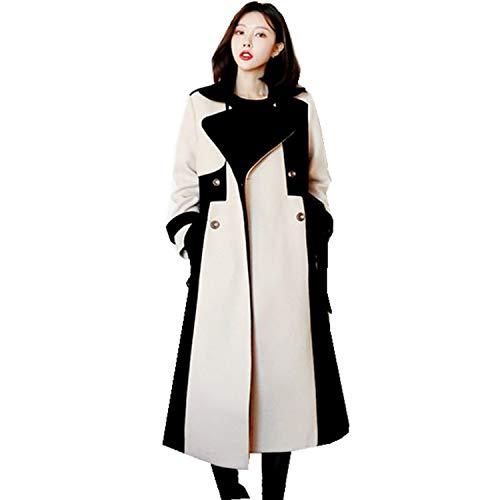 Carl Hamilton Vrouwen Tweed Dikke Warm Overcoat Wollen Dubbele Patchwork Lange Sjassen Wollen Coat