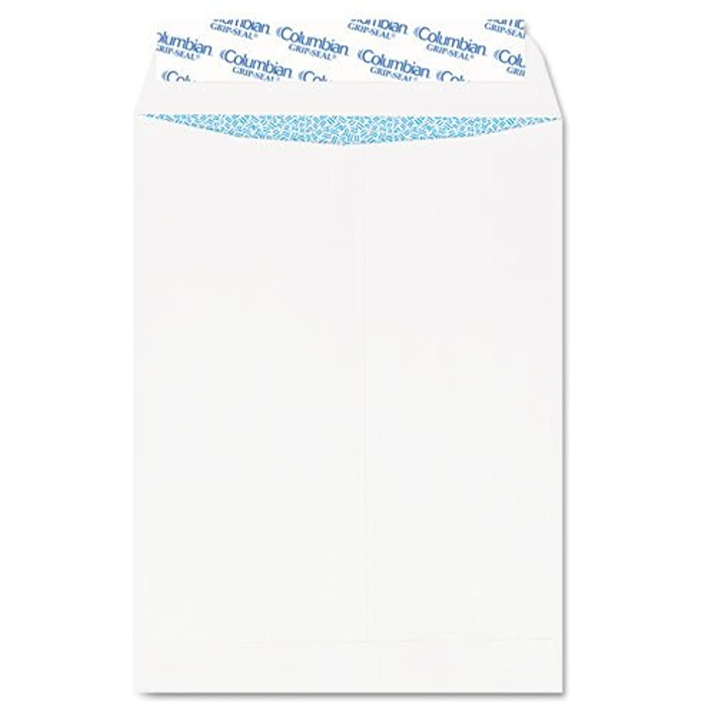 Columbian - Grip-Seal Security Tinted Catalog Envelopes, 10 x 13, 28lb, White Wove, 100/Box CO929 (DMi BX