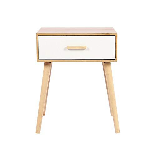 Ruication Modern nachtkastje opbergruimte slaapkamer kist van 1 lade houten kast houten meubels locker zijtafel ladekast voor slaapkamer woonkamer hal