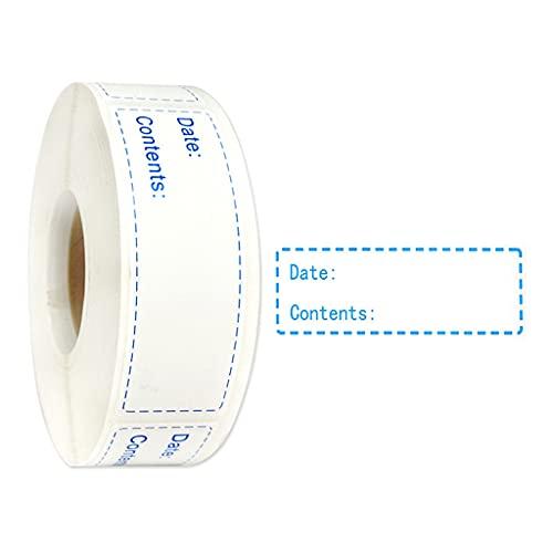 Meipai 150/600 Uds etiquetas de cocina extraíbles, pegatinas autoadhesivas, para recipientes de comida y bolsas de plástico
