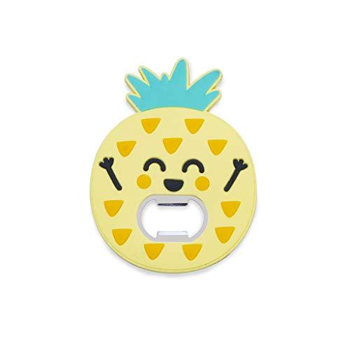 Balvi Abrebotellas MrWonderful Pineapple Color Amarillo Superficie Suave al Tacto con Forma de piña con imán Plástico/Metal