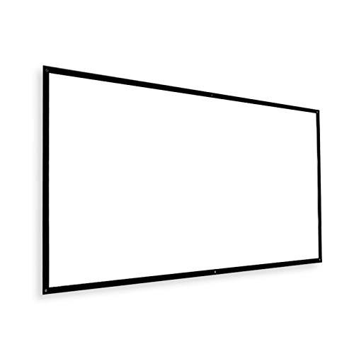 BLKJ Pantalla del proyector, portátil 16:9 y 4:3 HD 4k Pantalla Plegable...