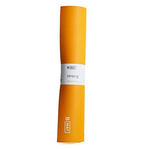 B Yoga Yogamatte B Mat Strong, Sport- und Fitnessmatte aus Naturkautschuk (Saffron, Maße: 215 cm x 66 cm x 0,6 cm;...
