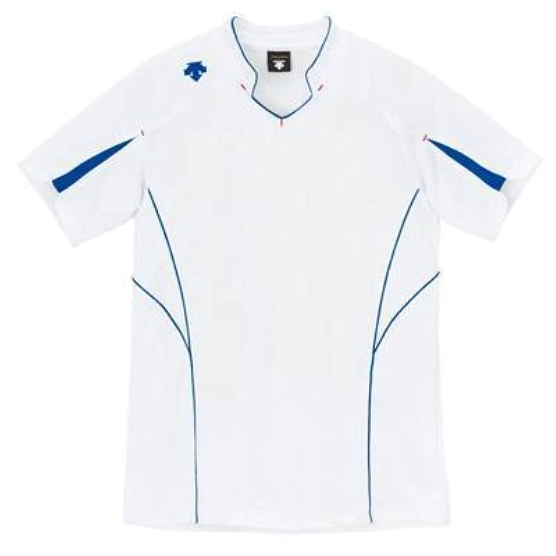 パーセントながら練習(デサント) DESCENTE バレーボール 半袖ゲームシャツ DSS-4822 (WAB ホワイトxAブルー, M)