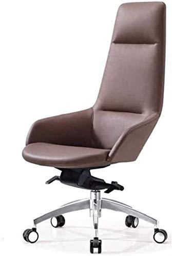 WNN-URG Sedia da ufficio girevole EXECUTIVE Sedia da ufficio, cuoio, sedia boss, sedia da conferenza, sedia per studio, regolabile, sedia da ufficio a girevole con bracciolo, sedia da ufficio girevole