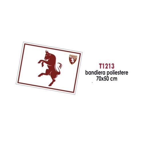 Giemme articoli promozionali - Bandiera Poliestere Bianca 70X50 Cm Torino Calcio Toro Idea Regalo