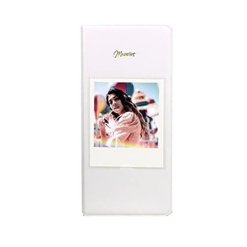 Kimyoaee Fotoalbum für Polaroid 600 Filmkamera, Instax Wide Film Wide 210 Wide 300 Filme, 64 Slots Polaroid Album Storage (weiß)
