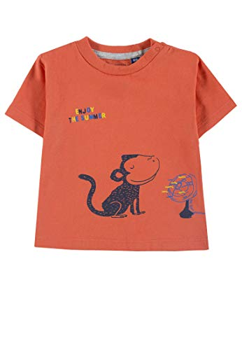 Tom Tailor Kids T-Shirt Placed Print, Arancione (Nasturtium|Orange 4079), 68 Bimbo