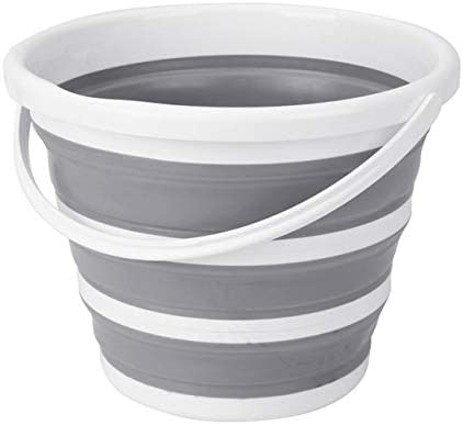 10L Collapsible Folding Bucket Fishing Water Carrier Kitchen Plastic Silicone
