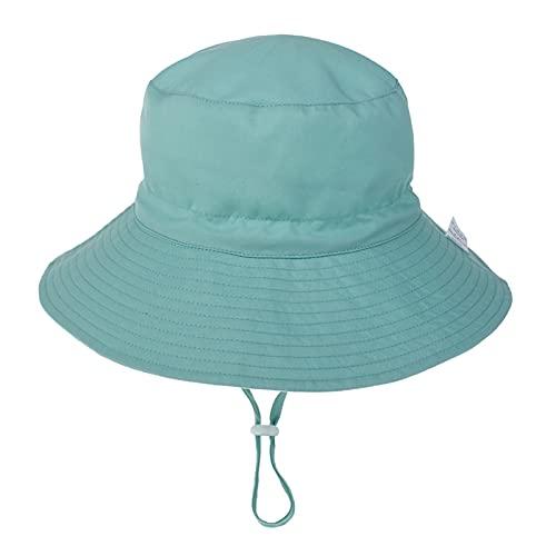 `Star Empty Sombreros para niños Verano Bebé Sol Sombrero Niños Al Aire Libre Anti UV Protección Playa Gorros Niño Niña para 0-8 Años (Color : Green, Size : For 6 36 Months)