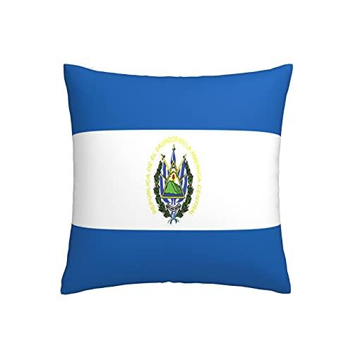 Kissenbezug mit Flagge von El Salvador, quadratisch, dekorativer Kissenbezug für Sofa, Couch, Zuhause, Schlafzimmer, Innen- & Außenbereich, 45,7 x 45,7 cm