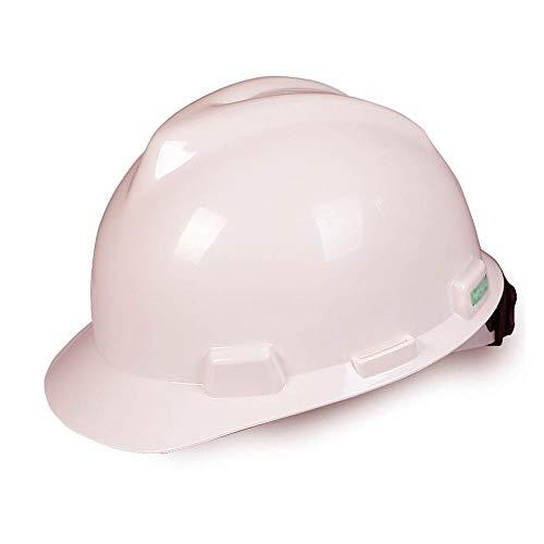 LYFHMP ABS schlagfester Aufprallschutzhelm Baustellenleiter Männer und Frauen Schutzhelm, Helm (Color : White)