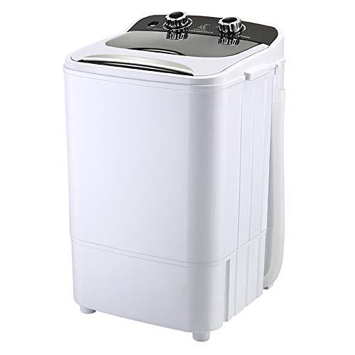 Machine à laver Petite Portable, Monocylindre Semi-Automatique à DéShydratation, Capacité De Lavage 4kg pour Les MéNages, Dortoir