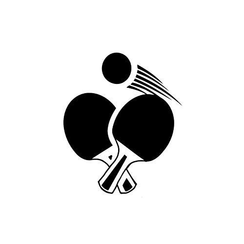 SHMAZ 12,9 * 15,5 Cm Interesantes Pegatinas De Coche Accesorios Deporte Juego Silueta Ping Pong Calcomanías